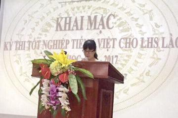LHS Lào hoàn thành Kỳ thi Tốt nghiệp Tiếng Việt năm học 2016-2017