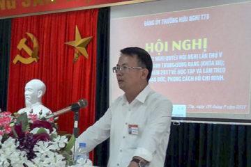 Đảng bộ trường Hữu nghị T78 tổ chức học tập, quán triệt Nghị quyết Hội nghị lần thứ 5 Ban chấp hành Trung ương Đảng khóa XII.
