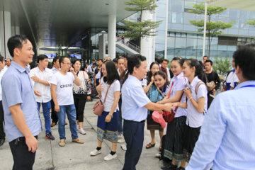 Trường Hữu Nghị T78 đón Lưu học sinh Lào nhập học năm học 2017-2018