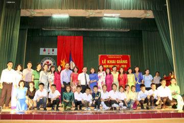 Trường Hữu Nghị T78 tổ chức Lễ Khai giảng năm học 2017-2018  dành cho khối Dự bị tiếng Việt