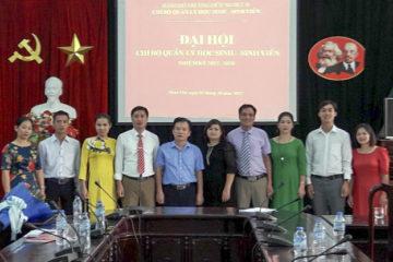 Chi bộ Phòng Quản lý học sinh sinh viên long trọng tổ chức Đại hội chi bộ nhiệm kỳ 2017 – 2020
