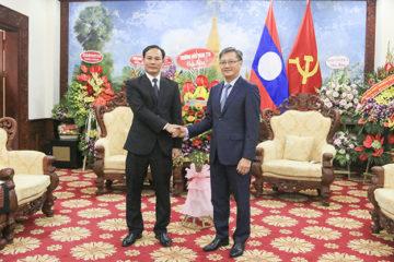 Lãnh đạo nhà trường thăm và chúc mừng Quốc khánh nước CHDCND Lào