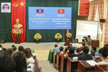 """Hội nghị  """"Sơ kết công tác Đào tạo nguồn nhân lực cho tỉnh U – Đôm – xay, nước CHDCND Lào giai đoạn 2011 – 2016"""""""
