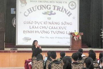 """Trường Hữu Nghị T78 tổ chức chương trình Giáo dục Kỹ năng sống: """"Làm chủ cảm xúc, định hướng tương lai"""""""