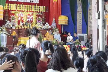 """Học sinh trường Hữu Nghị T78 tham gia """"Sân chơi hiếu đạo"""" tại chùa Nghiêm Phúc"""