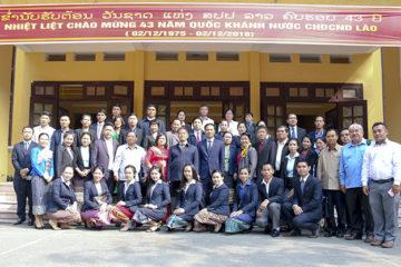 Trường Hữu Nghị T78 tiếp đón Đoàn cán bộ cấp cao của Bộ Giáo dục và Thể thao Lào sang thăm và làm việc