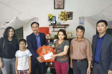 Trường Hữu Nghị T78 thăm, chúc Tết gia đình có hoàn cảnh khó khăn xã Thọ Lộc