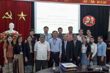 Đoàn cán bộ, giáo viên của Bộ Giáo dục và Thể Thao Lào thăm và làm việc tại trường Hữu Nghị T78