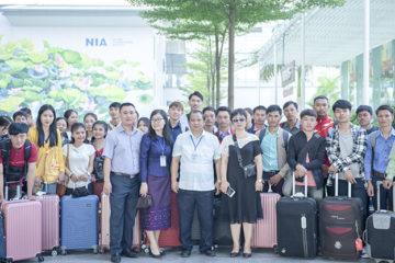 Trường Hữu Nghị T78 đón Lưu học sinh Lào nhập học năm học 2019-2020
