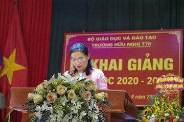 Bài phát biểu Khai giảng năm học 2020 – 2021 của cô giáo Đào Thị Minh Thúy, Tổ trưởng Tổ Sử – Địa – GDCD