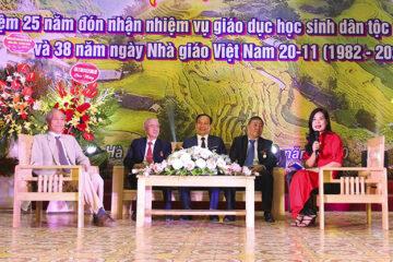 Tọa đàm kỷ niệm 25 năm đón nhận nhiệm vụ giáo dục học sinh dân tộc và 38 năm Ngày nhà giáo Việt Nam 20 -11