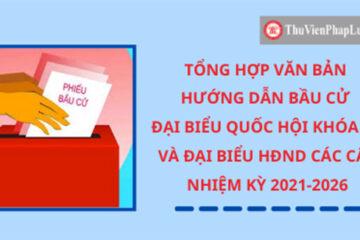 06 điều cử tri cần biết về bầu cử đại biểu Quốc hội, Hội đồng nhân dân nhiệm kỳ 2021-2026